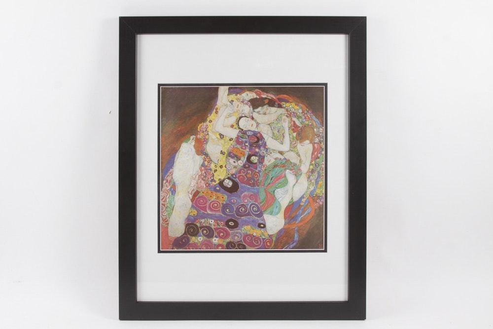 """Offset Lithograph After Gustav Klimt's """"The Virgins"""""""