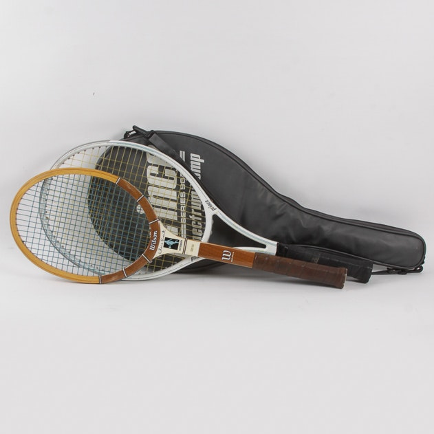 Vintage Wilson Tennis and Prince Tennis Rackets