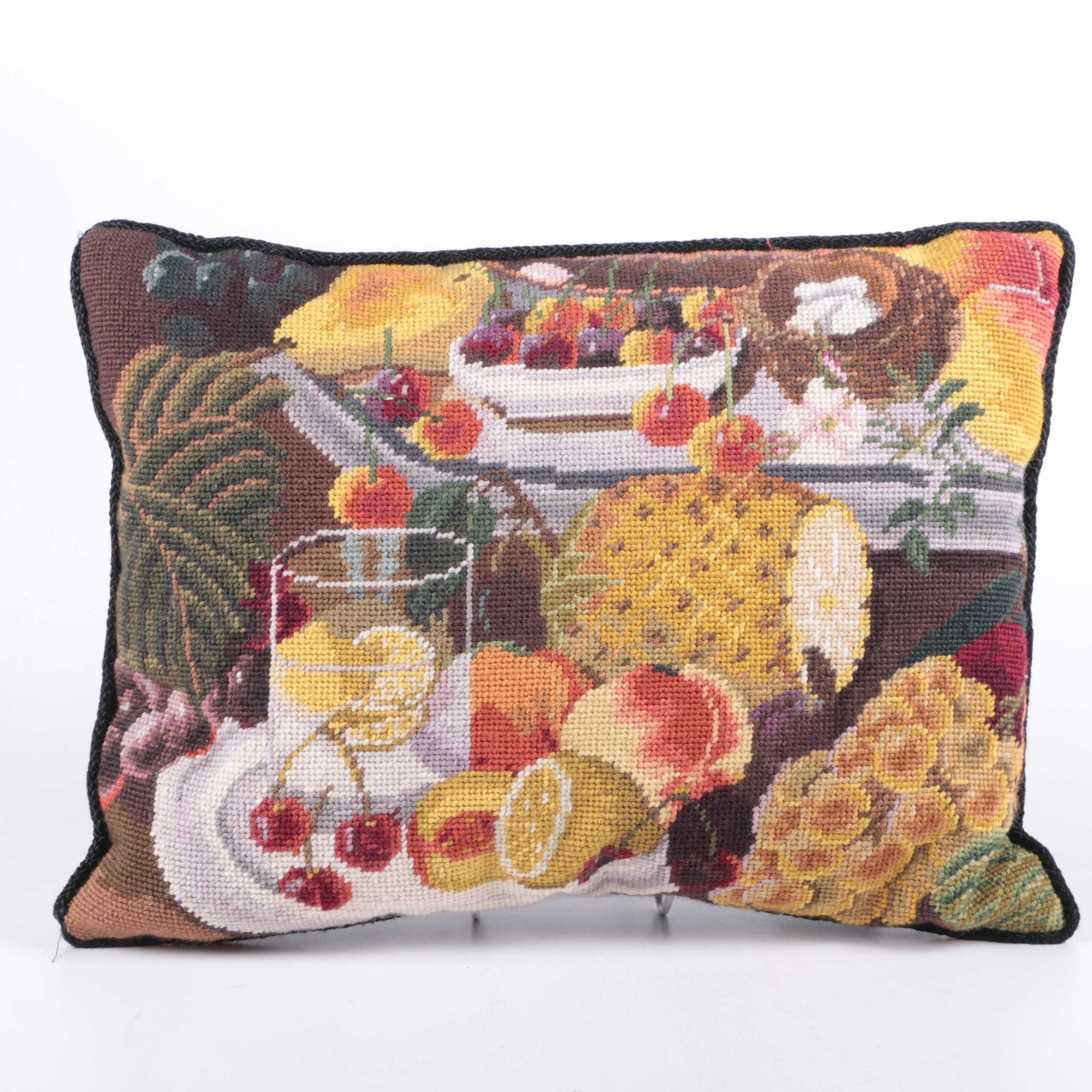 Katha Didde Needlepoint Pillow
