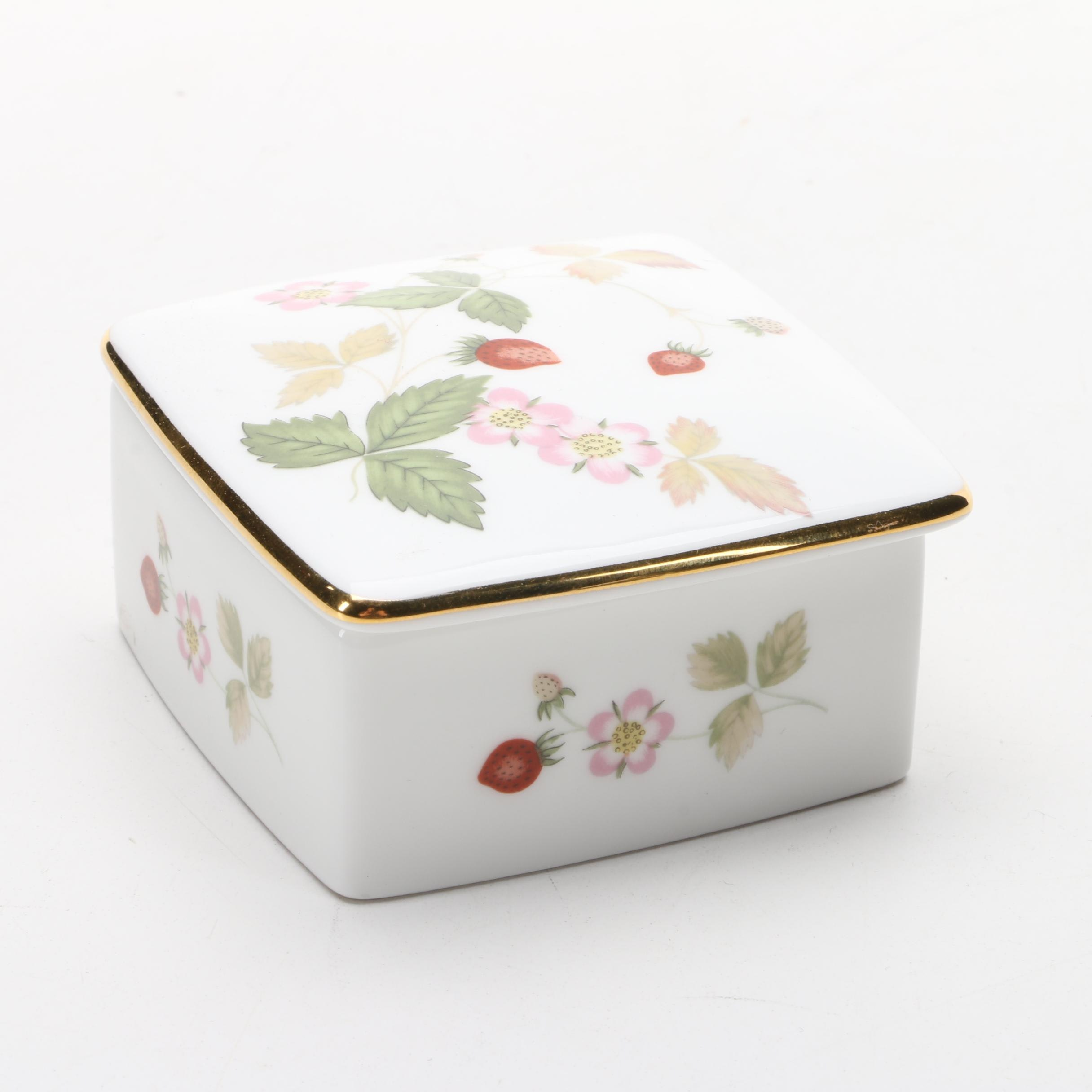 "Wedgwood ""Wild Strawberry"" Trinket Box"