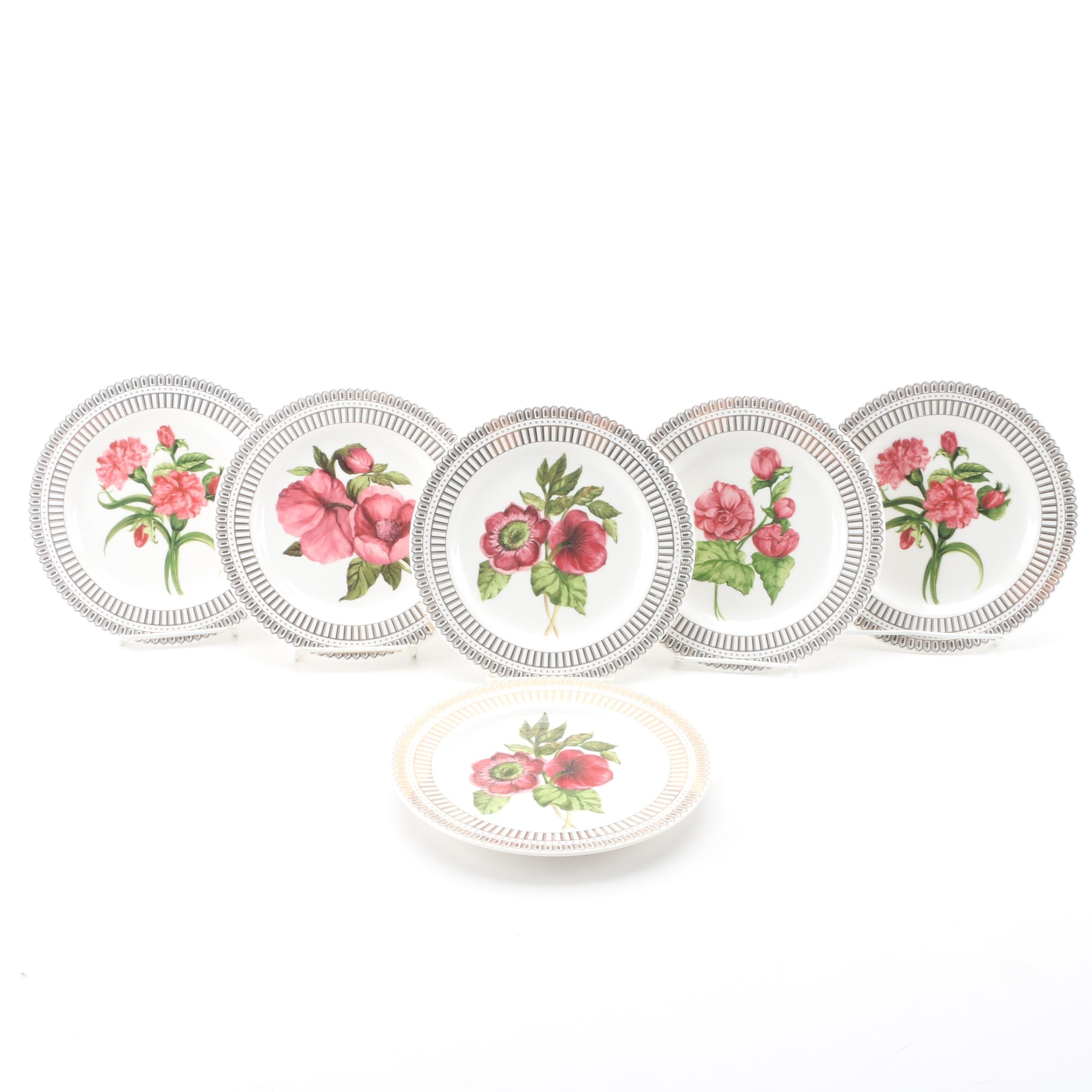 """American Atelier """"Christmas Floral"""" Plates"""