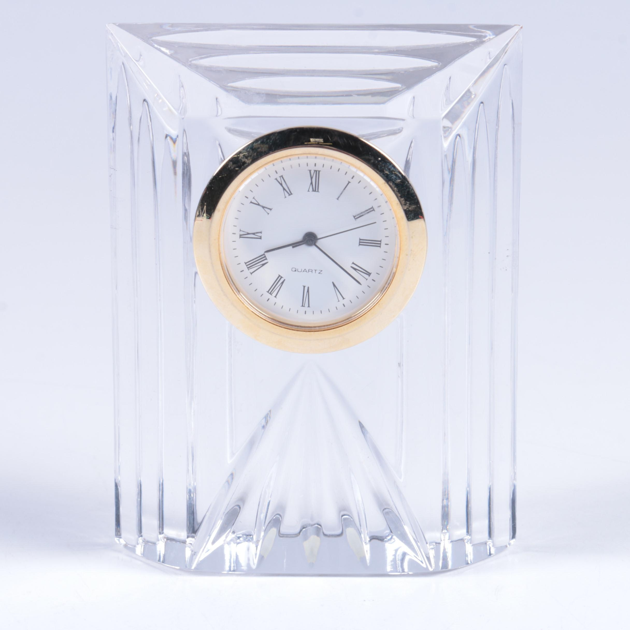 Bohemia Crystal Shelf Clock