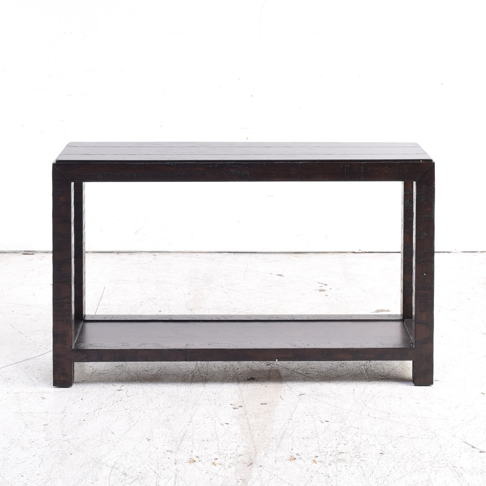Rustic Planked Top Console Table