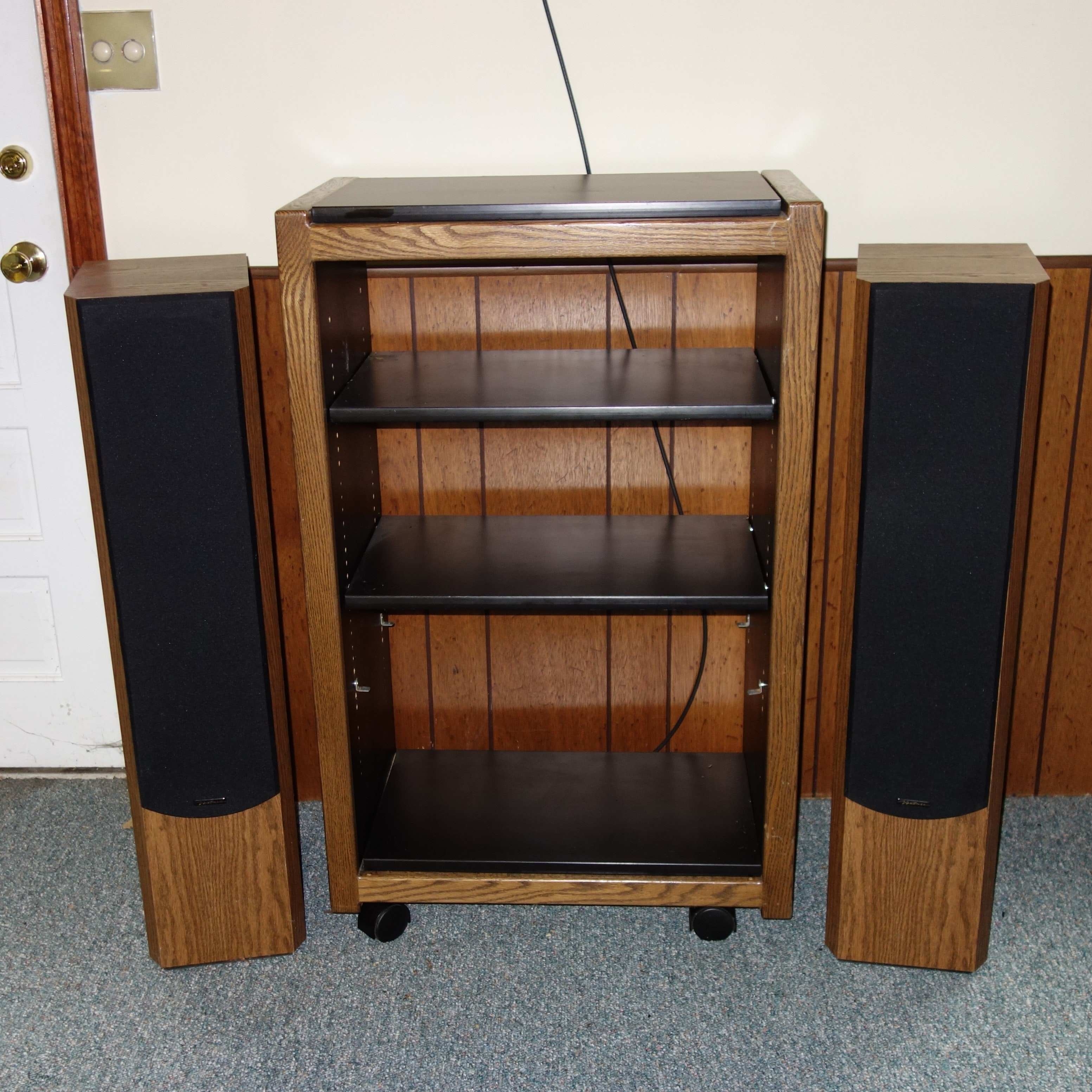 Venturi Floor Speakers And Stereo System Cabinet ...