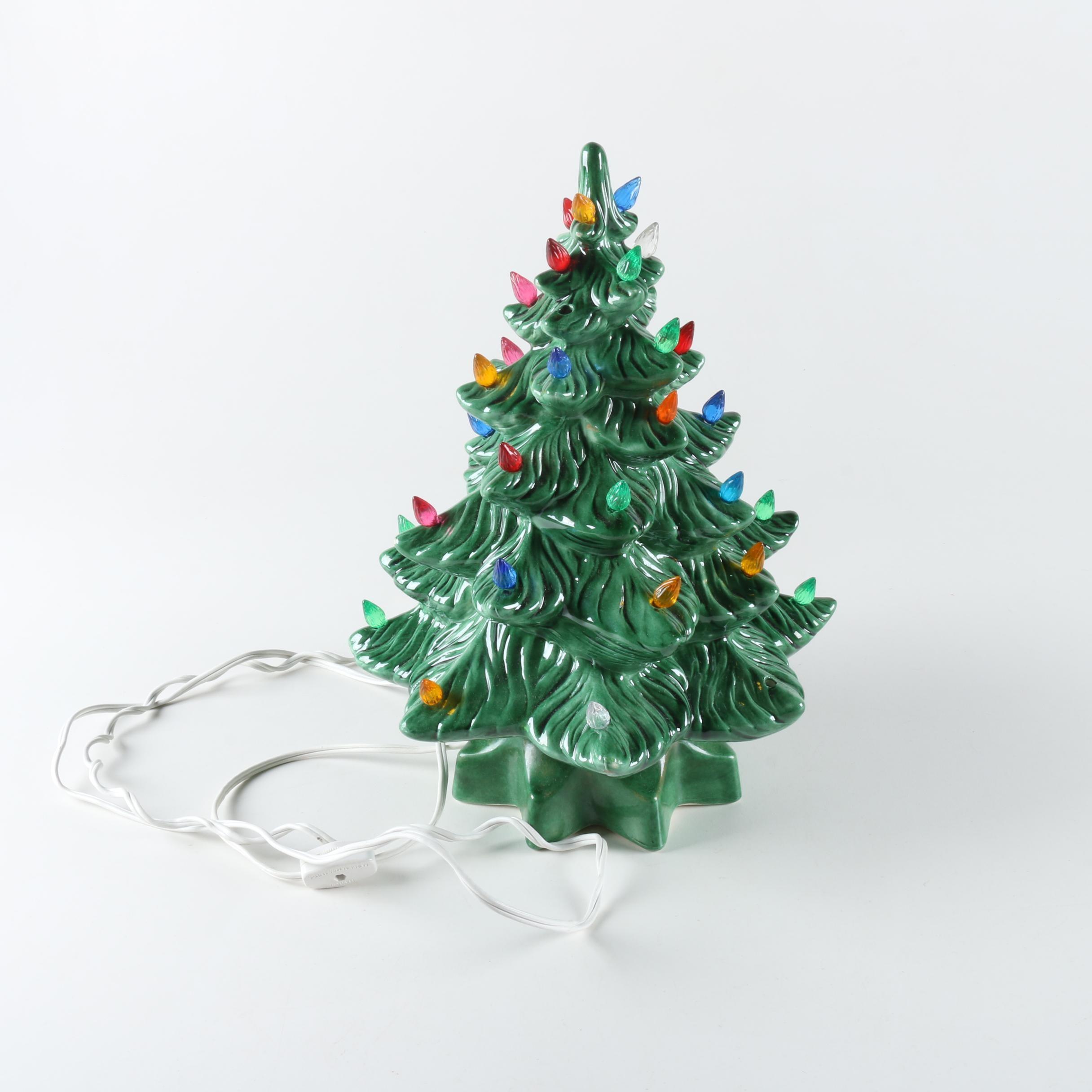 Lighted Christmas Tree Decor Piece