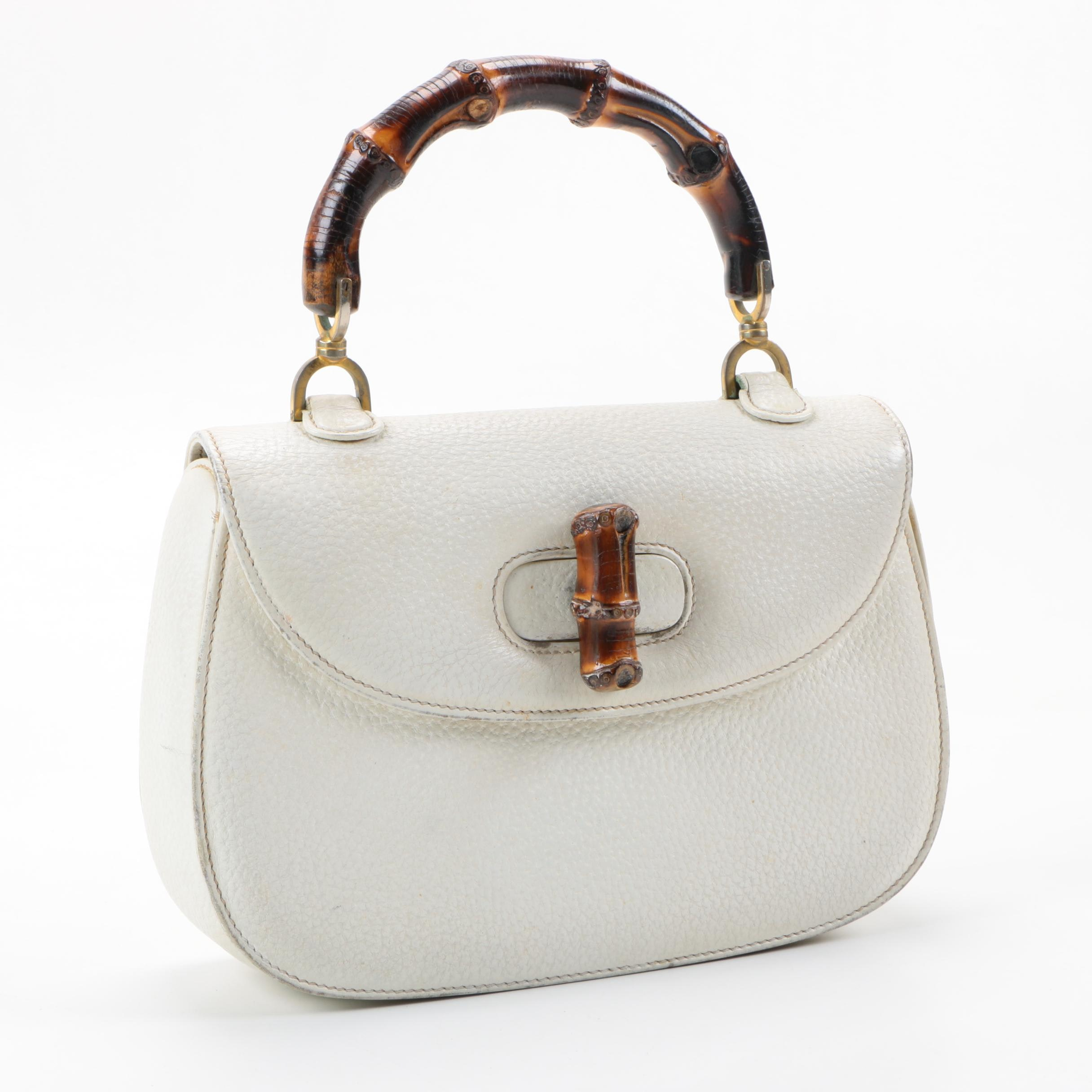 Vintage 1960s Gucci Leather Handbag