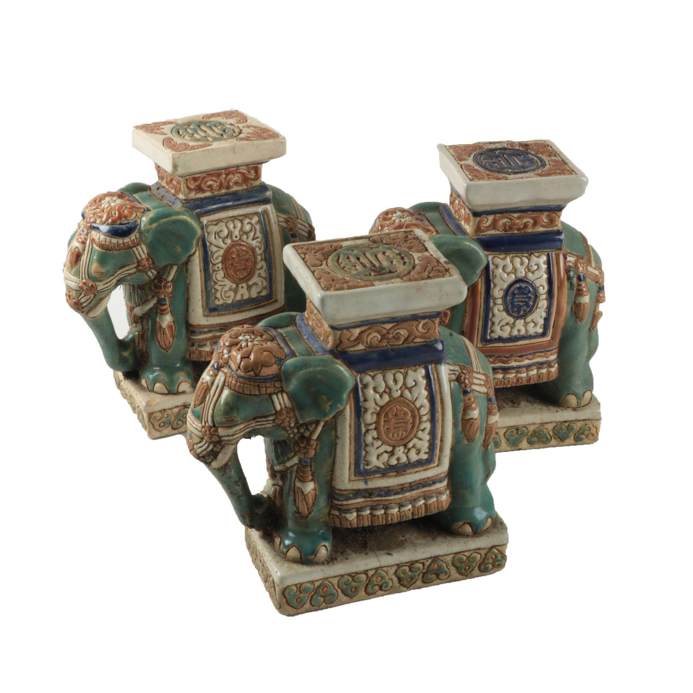 Asian Influenced Elephant Figures