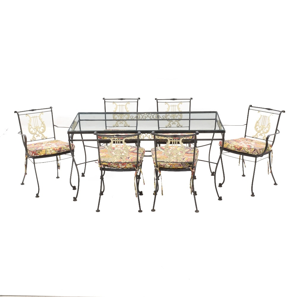 Mid-Century Metal Patio Table and Chairs