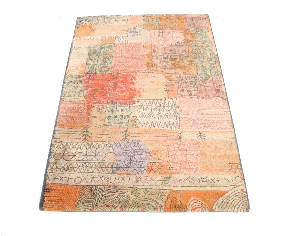 Danish Wool Paul Klee Art Rug by Ege