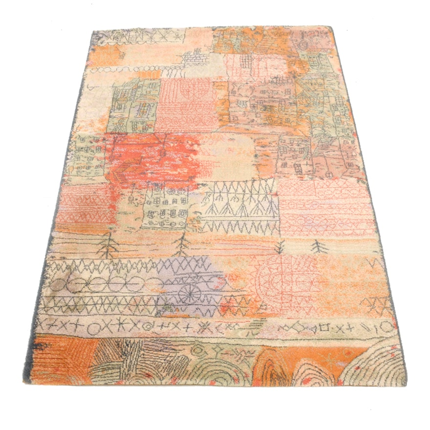 Ege Art Line Rug: Danish Wool Paul Klee Art Rug By Ege
