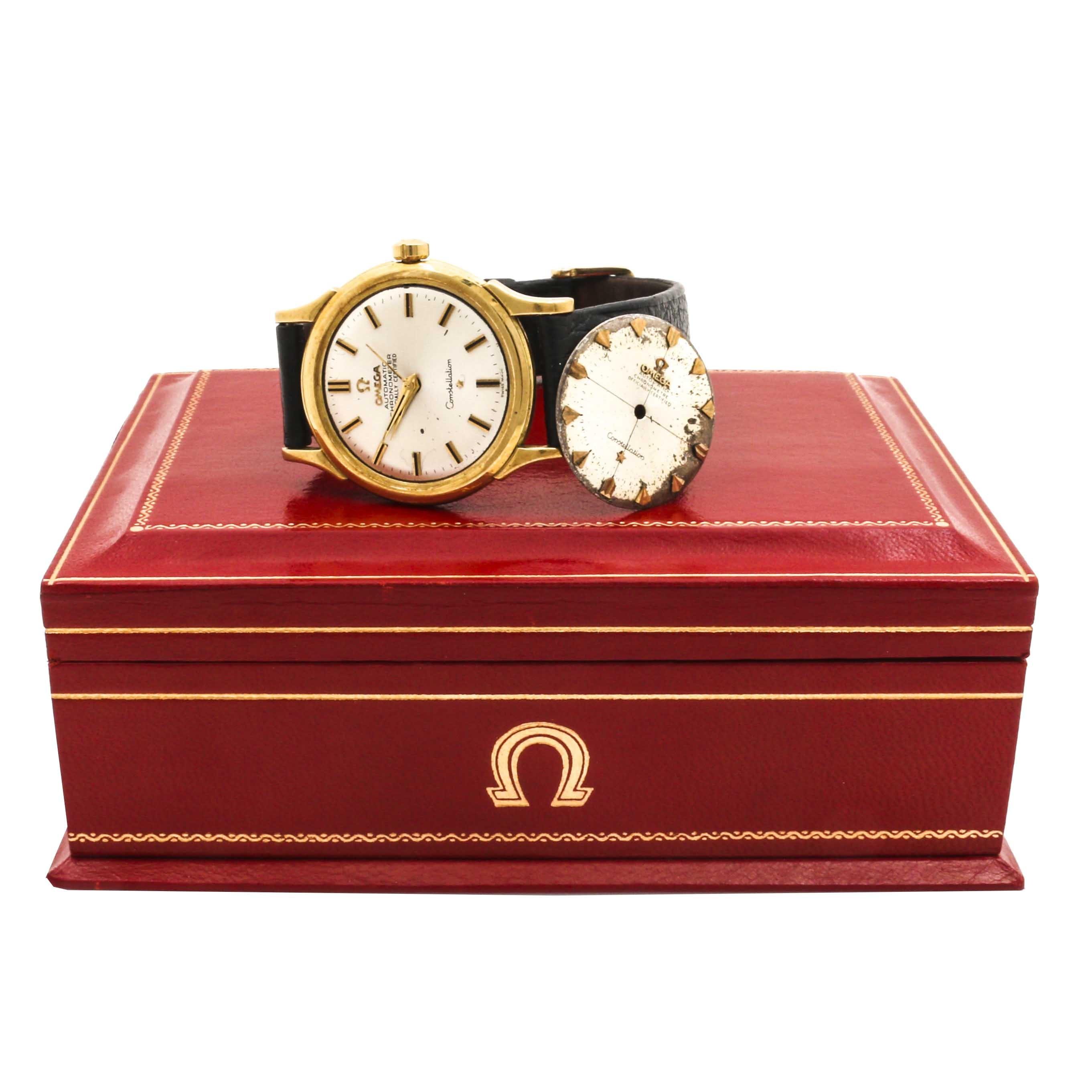 Omega 18K Yellow Gold Constellation Automatic Chronometer Wristwatch