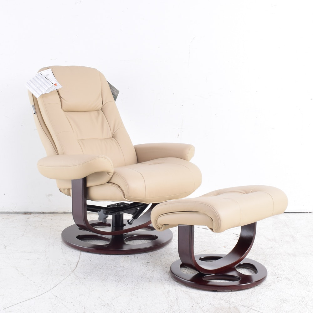 Barca Lounger Leather Chair and Ottoman