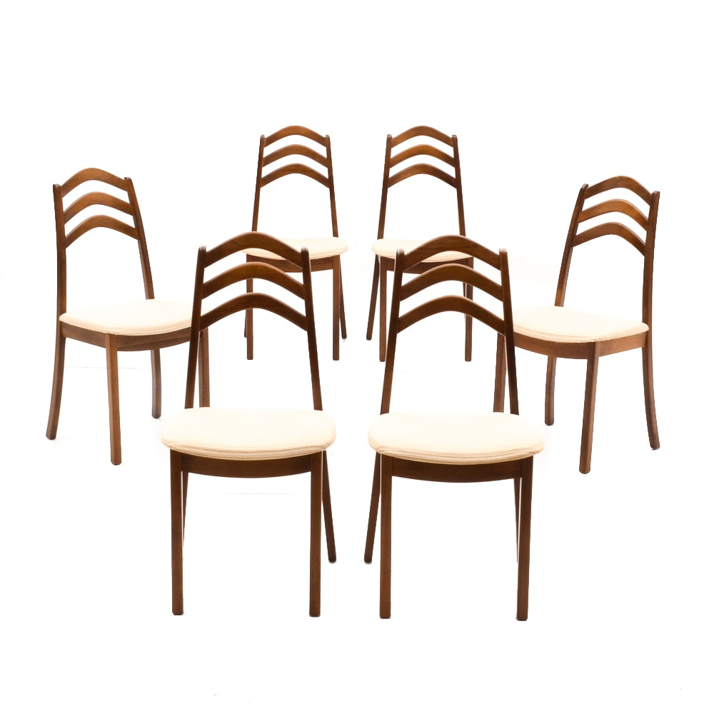 Six Mid Century Modern Dining Chairs by Honderich