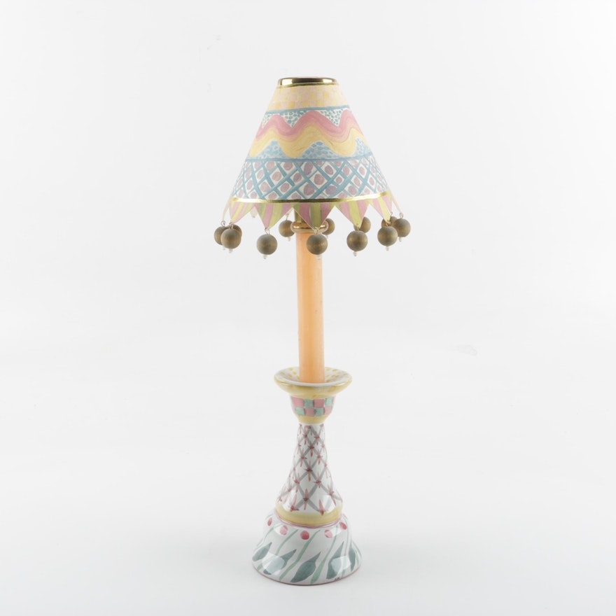 Mackenzie childs brighton pavilion ceramic candle lamp