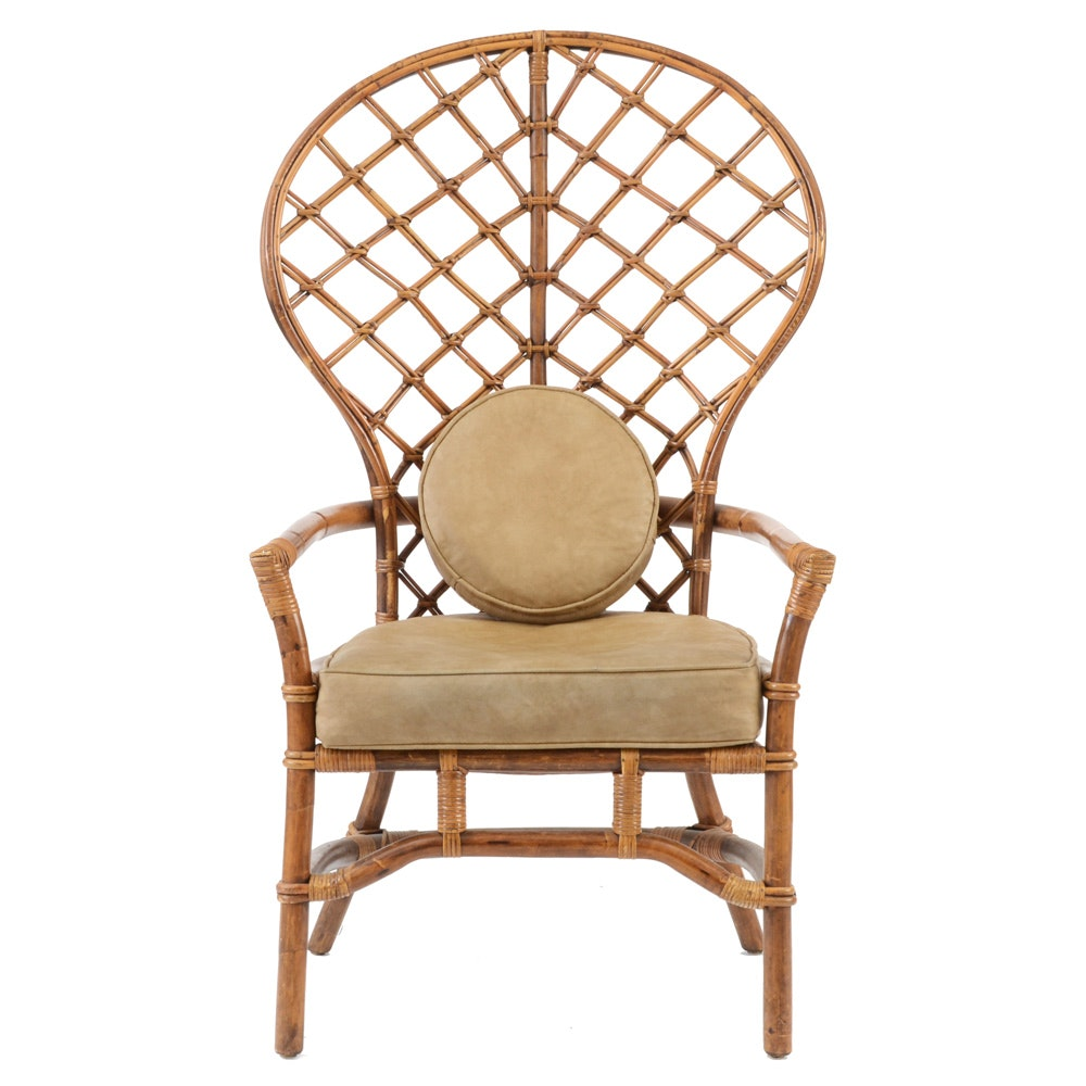 Bamboo and Wicker Armchair