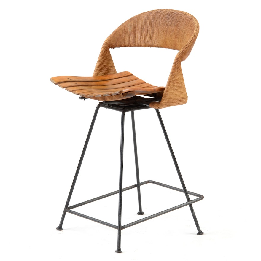 Miraculous Vintage Mid Century Modern Bar Stool After Arthur Umanoff Dailytribune Chair Design For Home Dailytribuneorg