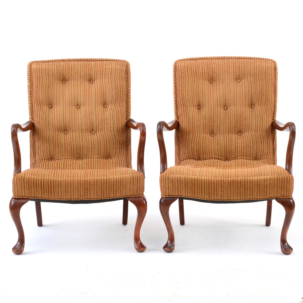 Matching Vintage Armchairs