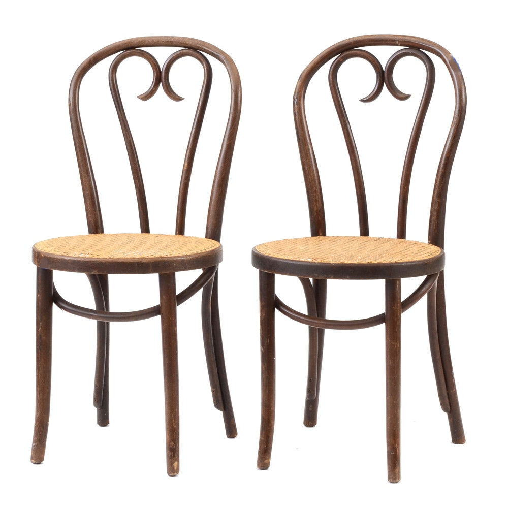 Vintage Thonet Style Bentwood Bistro Chairs