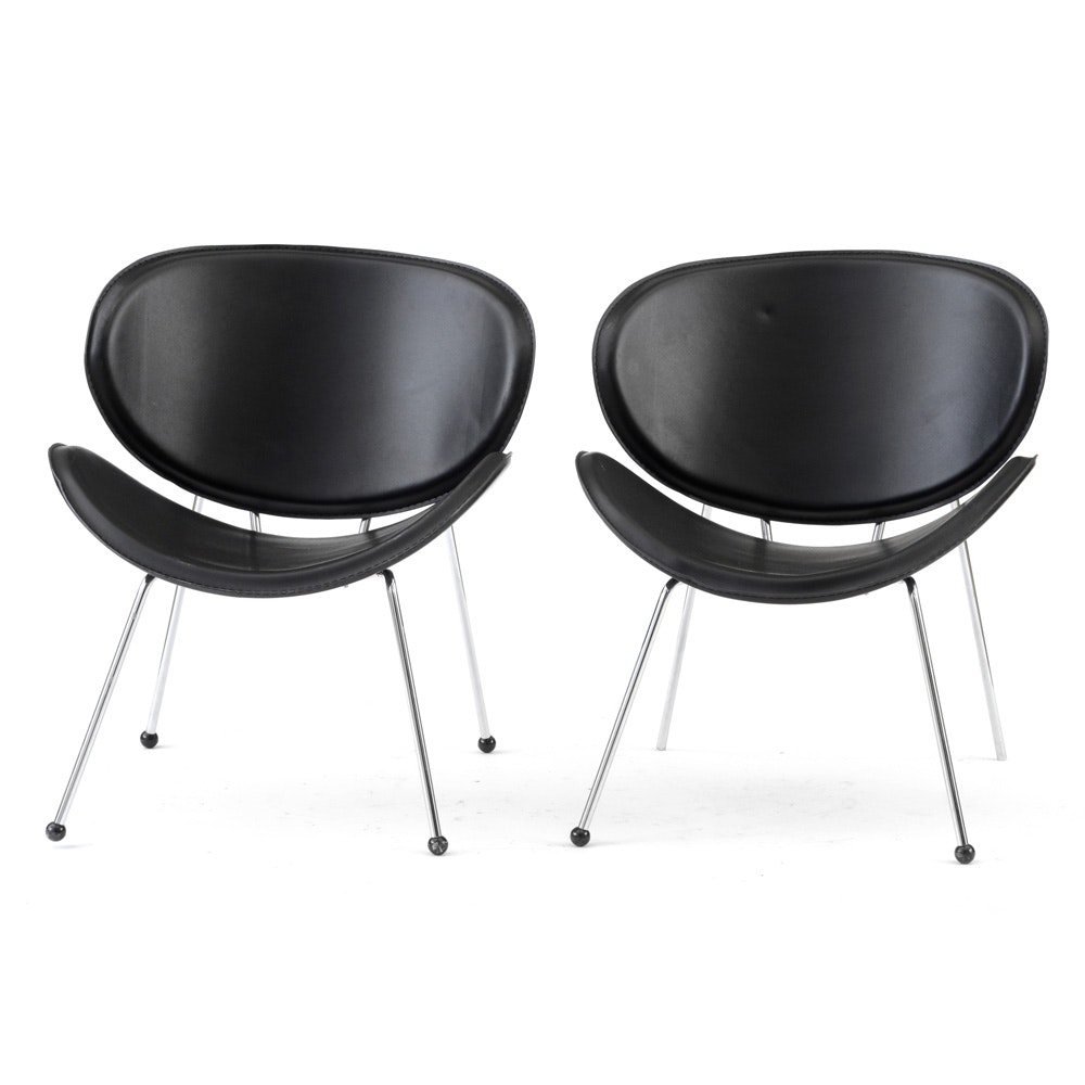 Pair of Zuo Modern Butterfly Chairs in Black