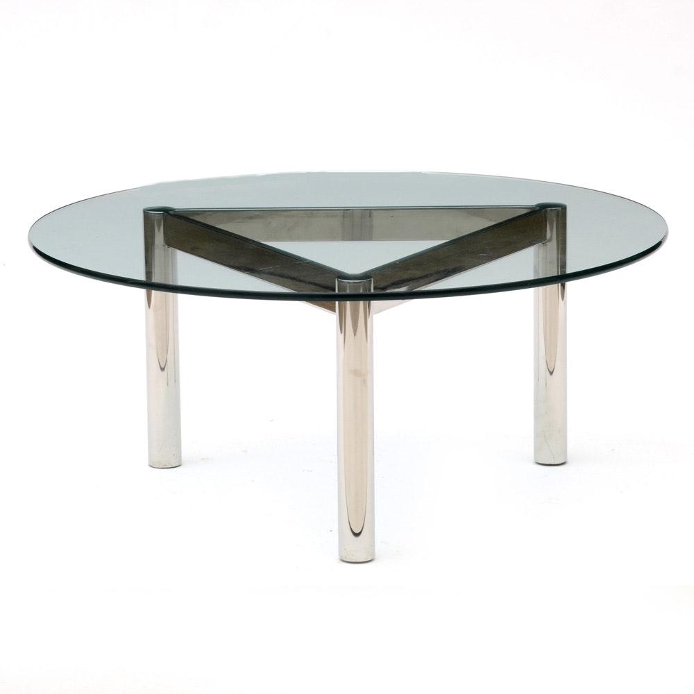 Mid Century Modern Glass Top Coffee Table