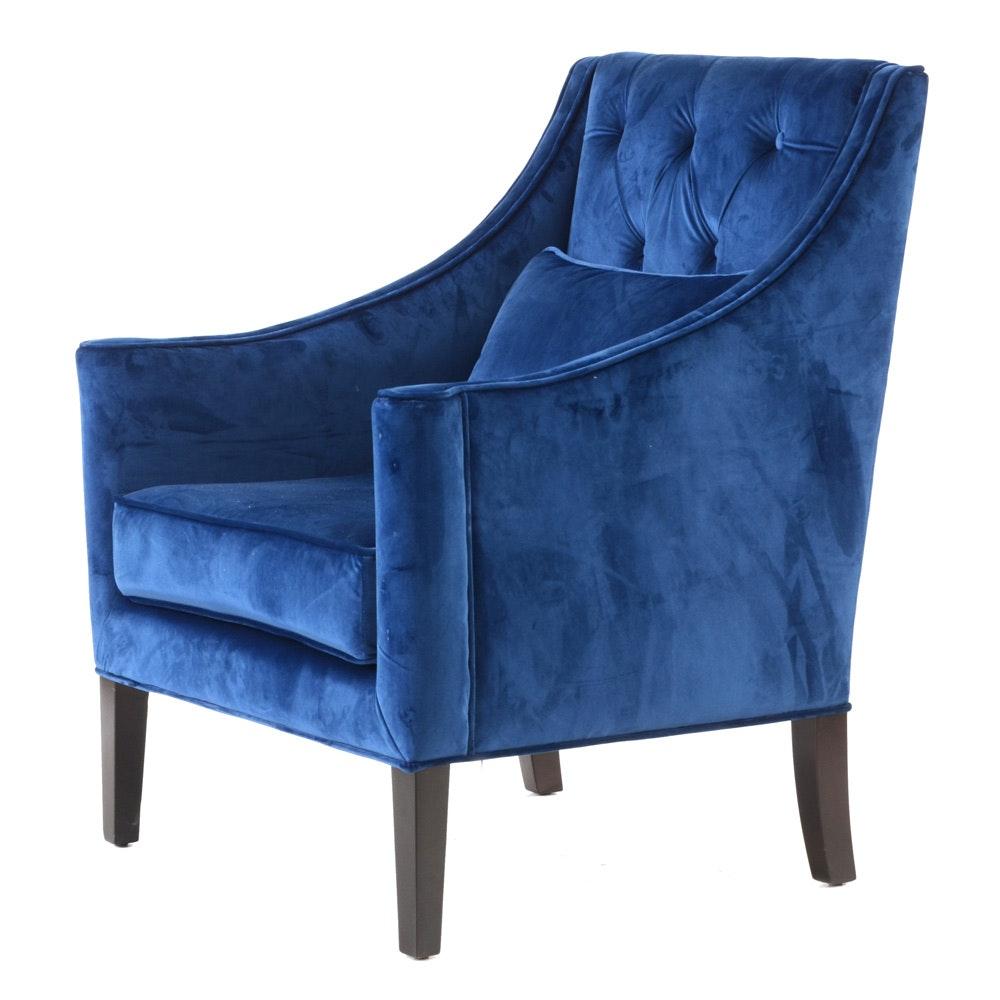 """Belham Living """"Avery"""" Armchair in Blue Velvet"""