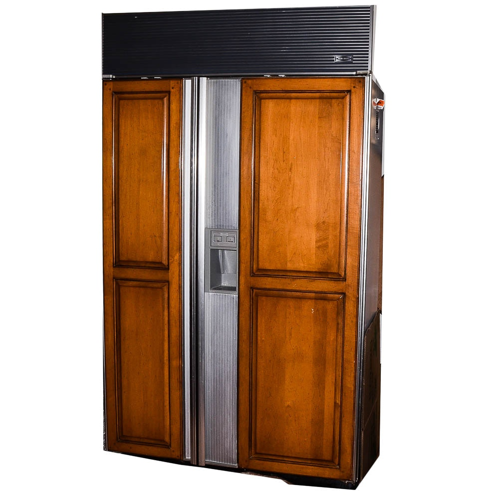 Sub-Zero 690/F Refrigerator with Wooden Accent Pieces