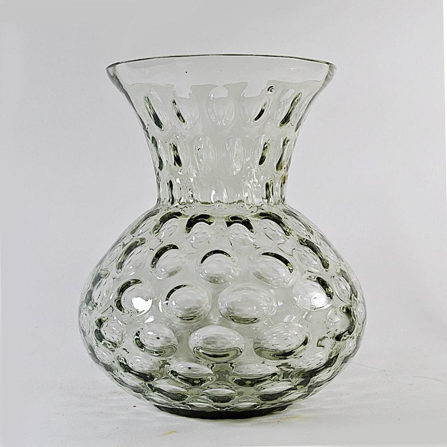 Mid Century Modern Glass Bubble Vase Ebth