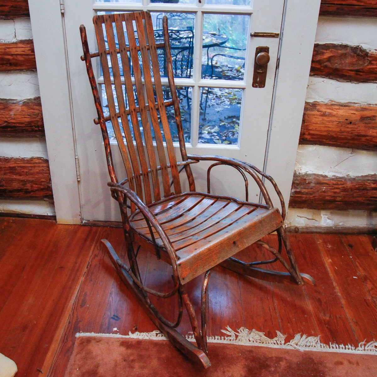 Oak And Bent Twig Rocking Chair ...