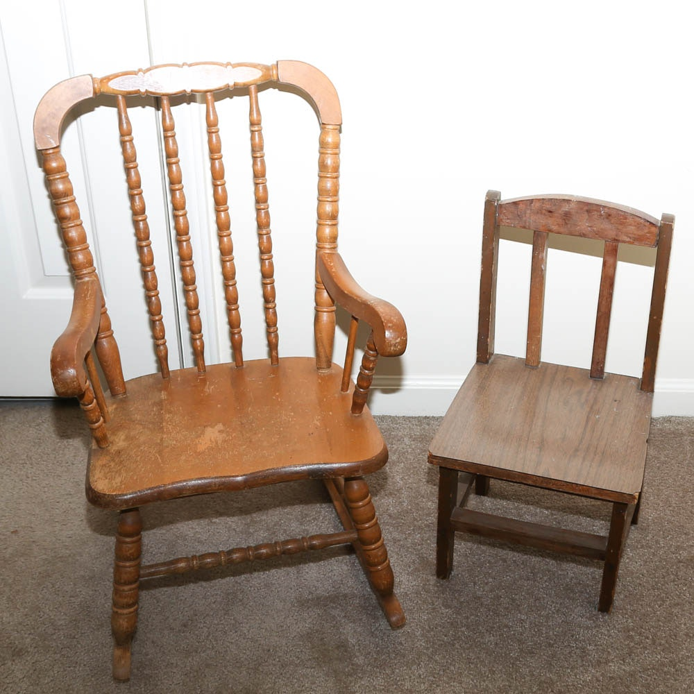 Vintage Wooden Child Size Chairs