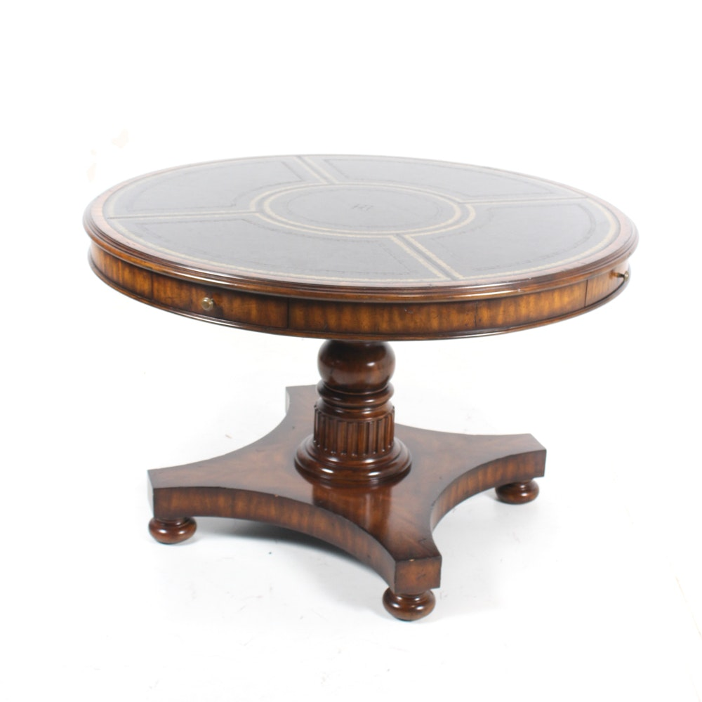 Maitland-Smith Leather Top Occasional Table