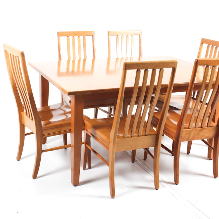 Mission Style Dining Room Table and Chairs : EBTH