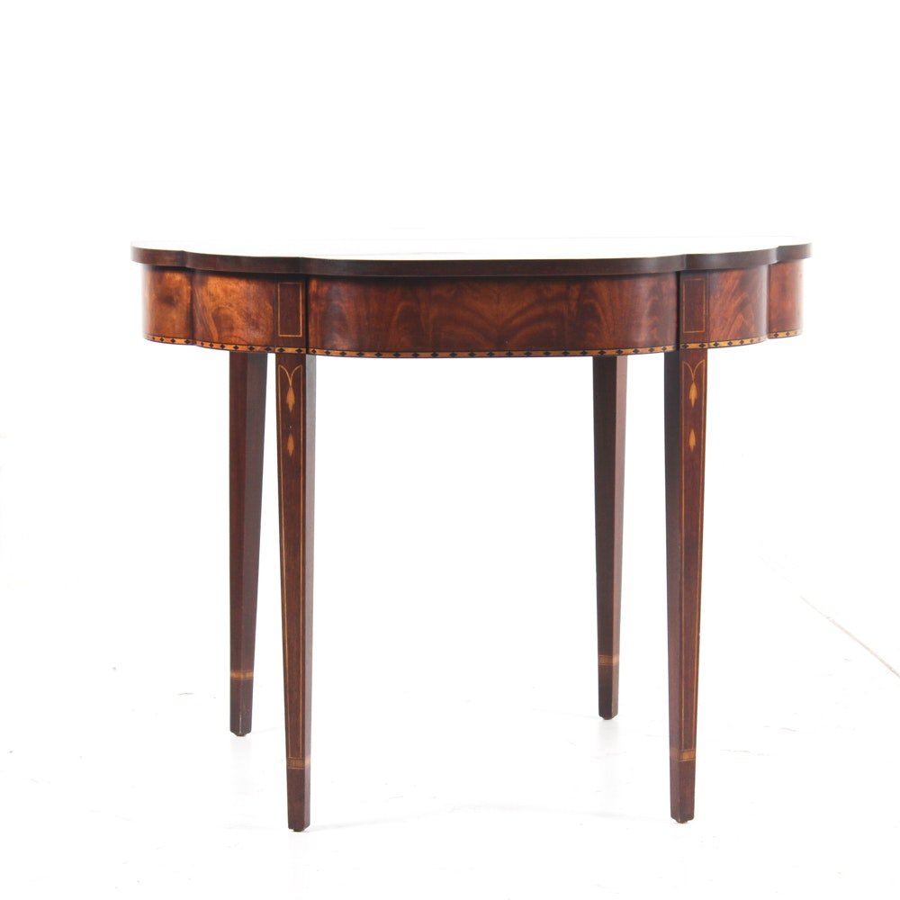 Vintage Hepplewhite Style Mahogany Folding Game Table ...