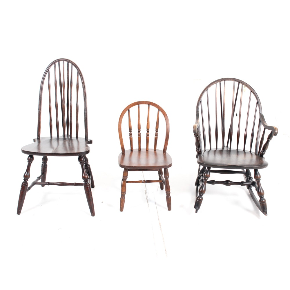 Antique Wooden Windsor Chairs