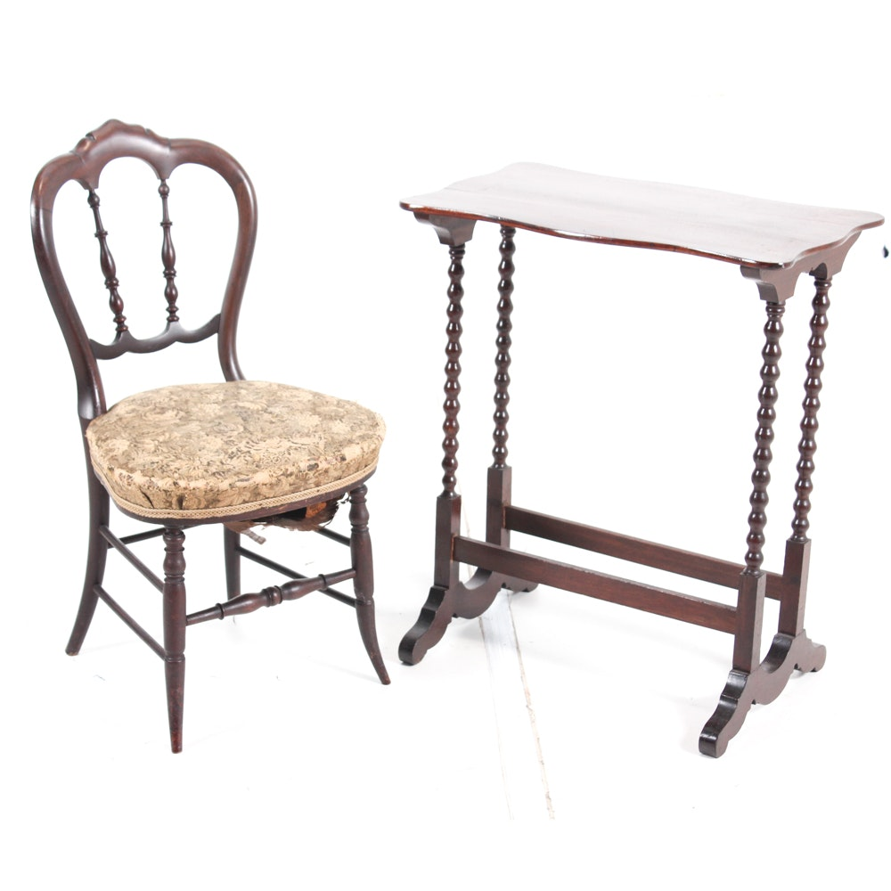 Victorian Occasional Table and Chair