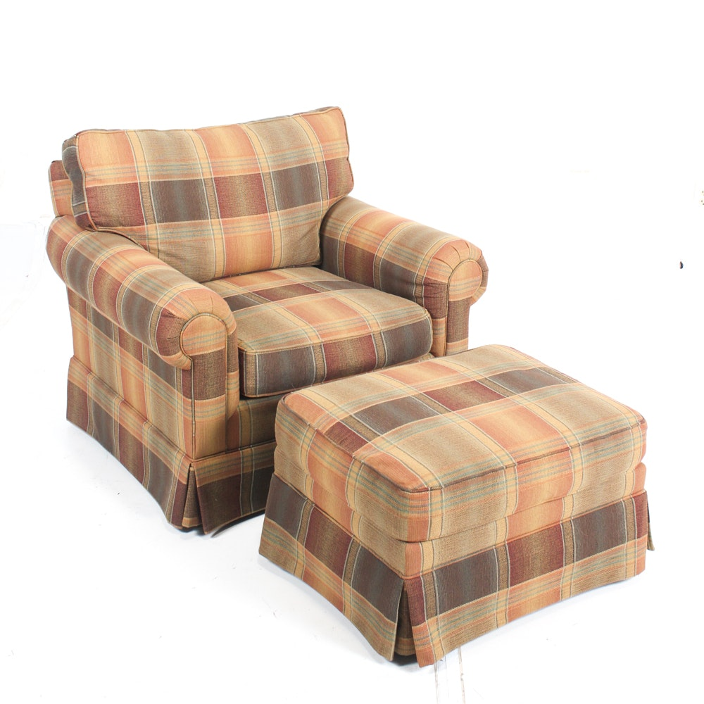 Lexington Furniture Custom Upholstered Chair and Ottoman