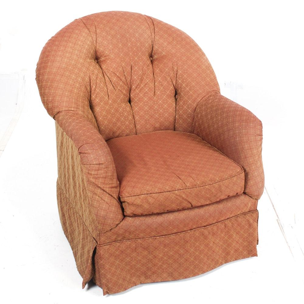 Upholstered Swivel Base Armchair