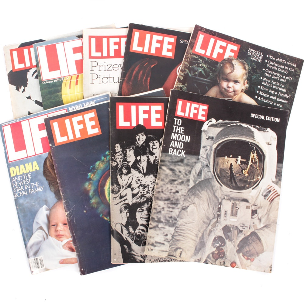 "Vintage LIFE magazine Collection Featuring ""To the Moon and Back"" Issue"