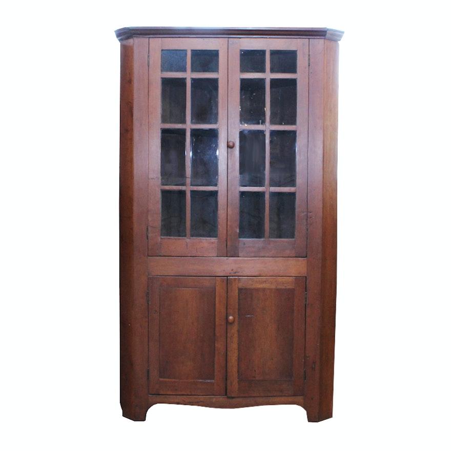 Antique Shaker Style Cherry Corner Cabinet ... - Antique Shaker Style Cherry Corner Cabinet : EBTH