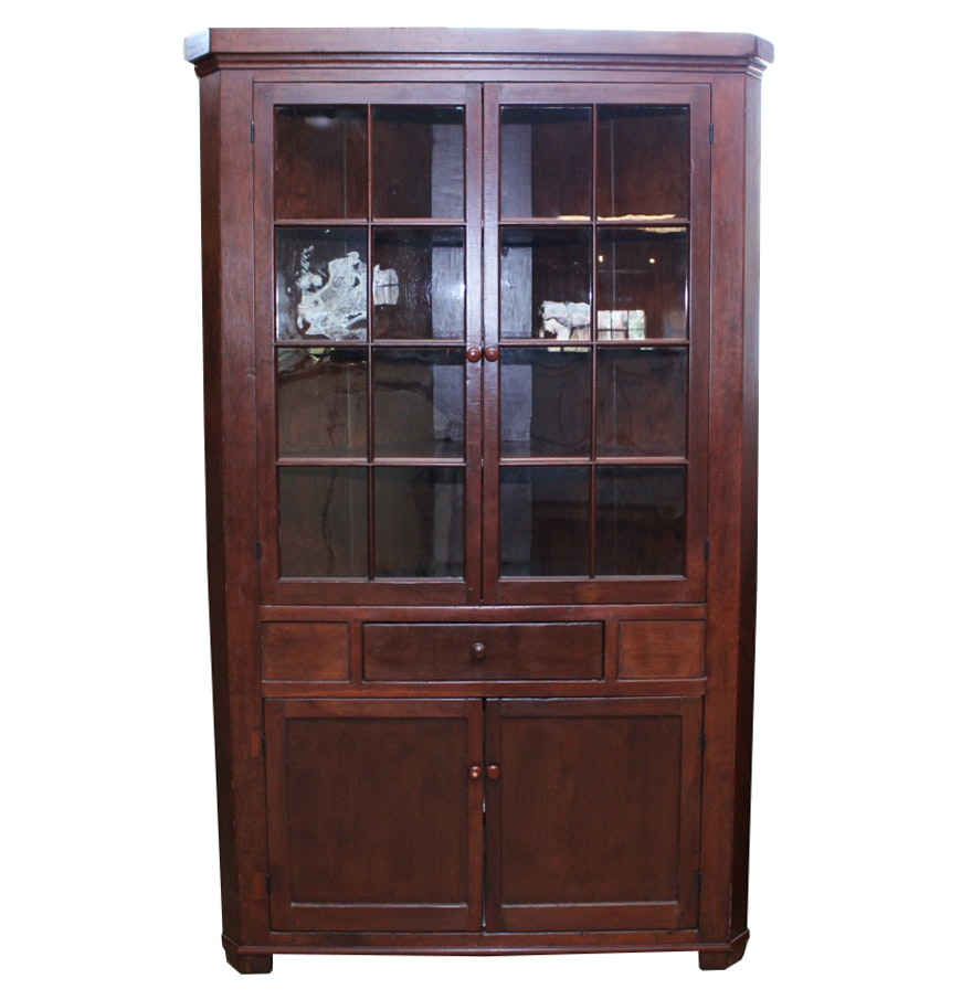 Antique Cherry Corner Cupboard ... - Antique Cherry Corner Cupboard : EBTH