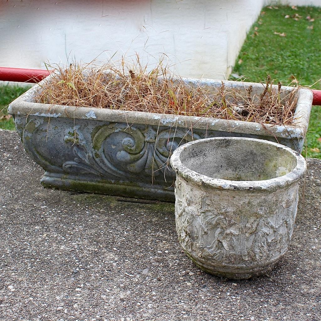 Cast Concrete Garden Planters ...