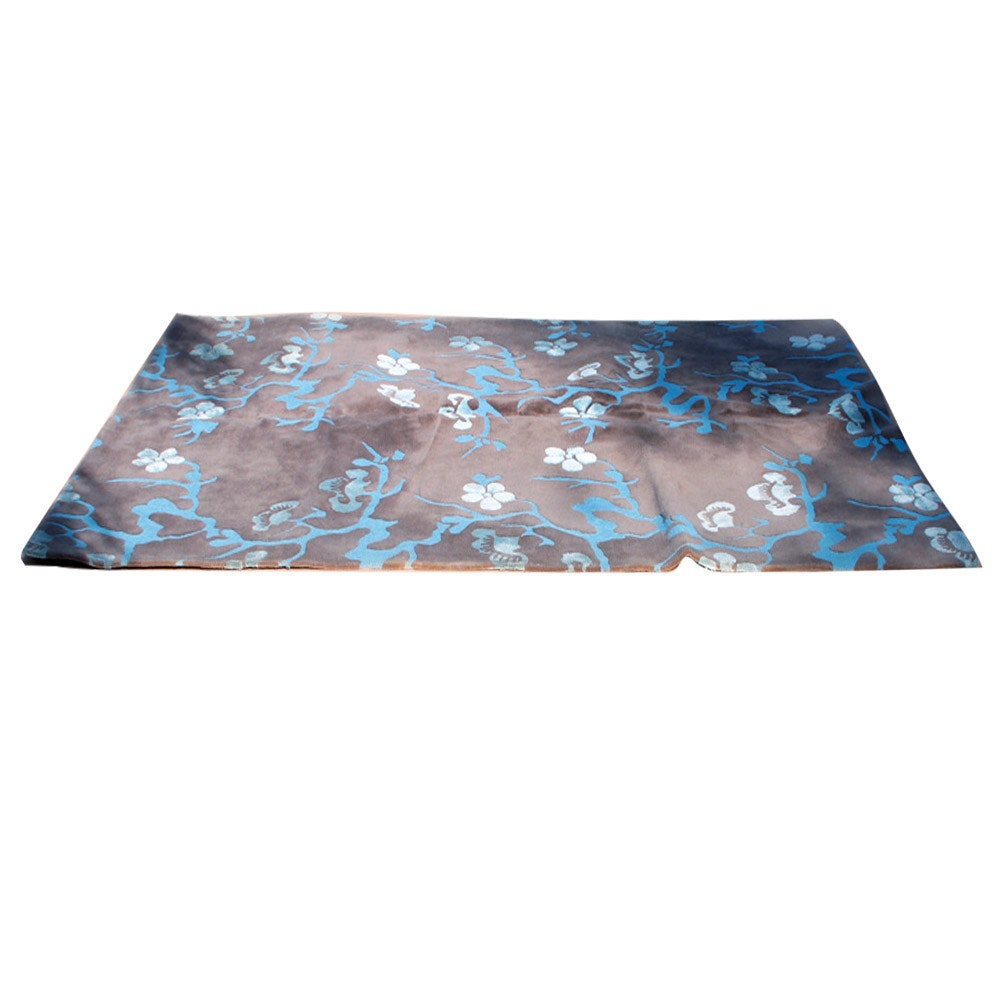 Power-Loomed Contemporary Floral Carved Wool Area Rug