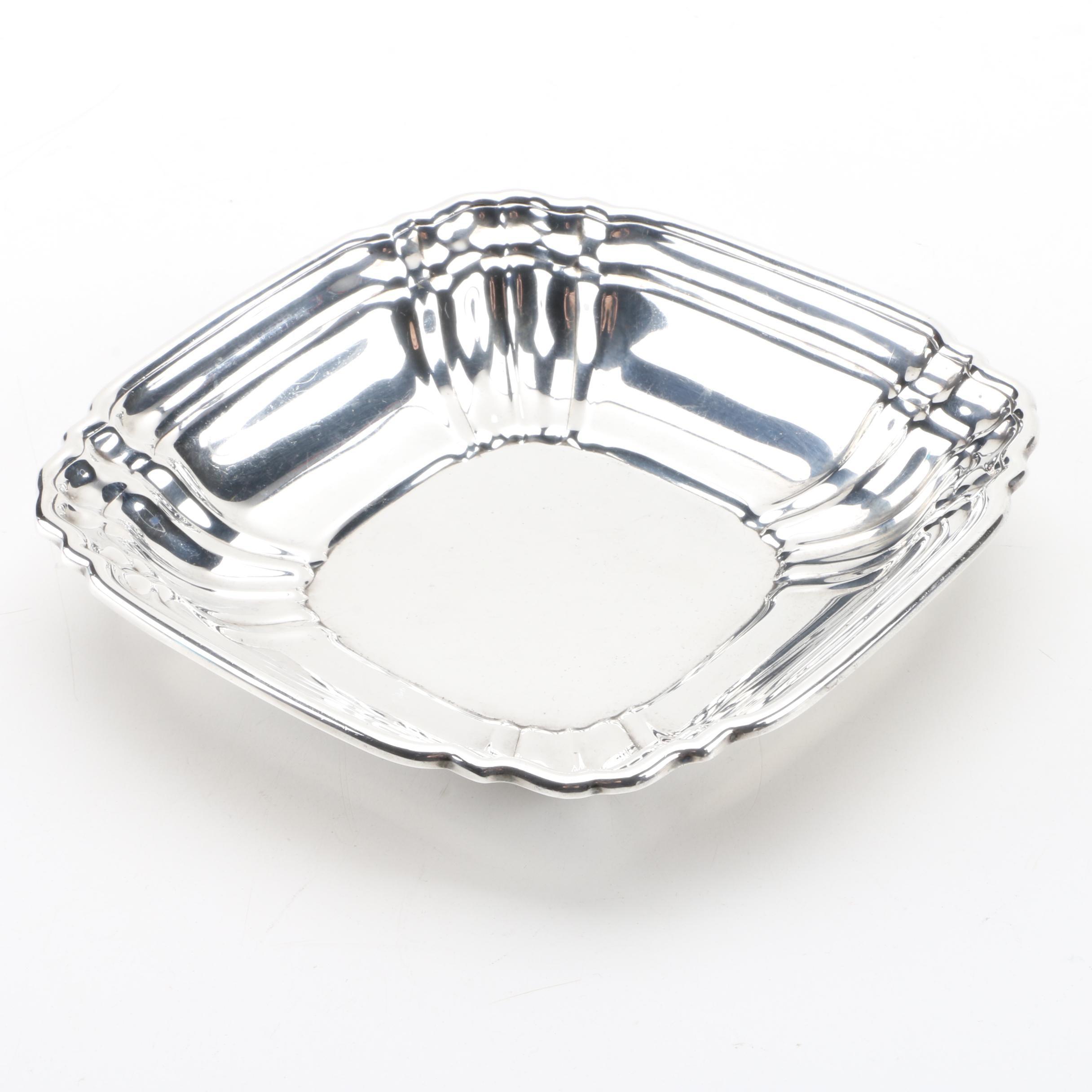 1947 Gorham Square Sterling Silver Bon Bon Bowl