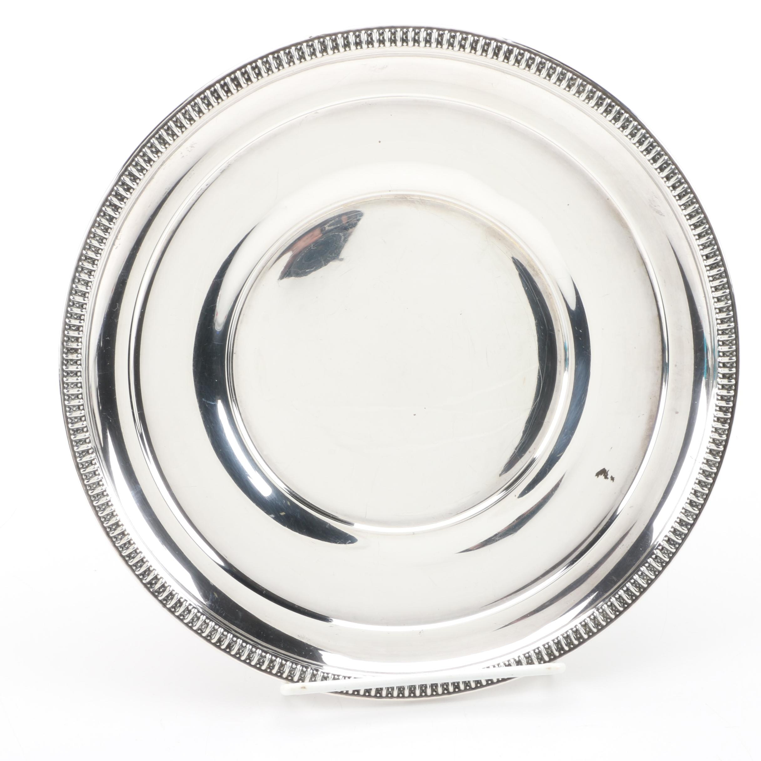 Wm. Rogers Mfg. Co. Sterling Silver Salad Plate