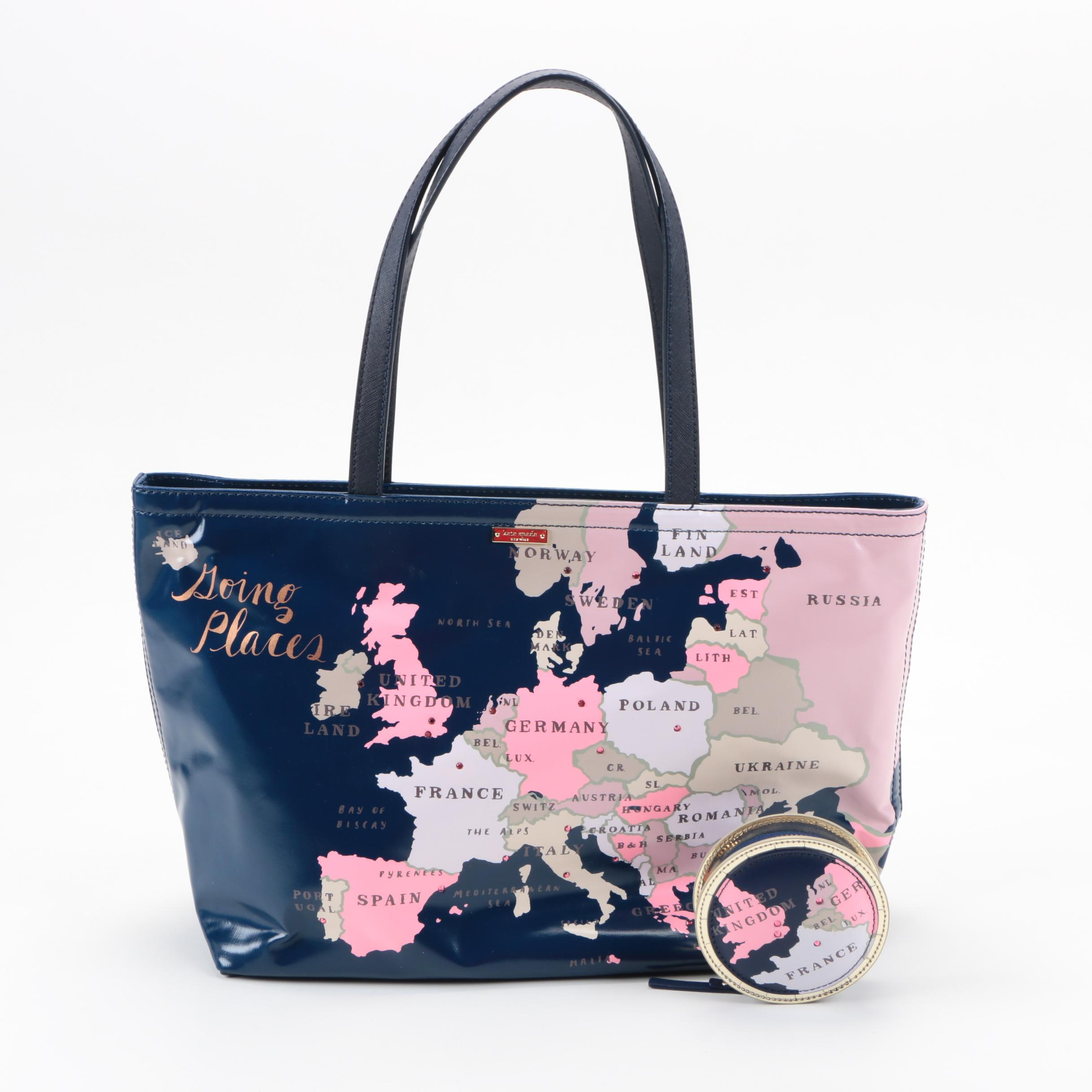 Kate Spade Going Places Tote with Coin Purse