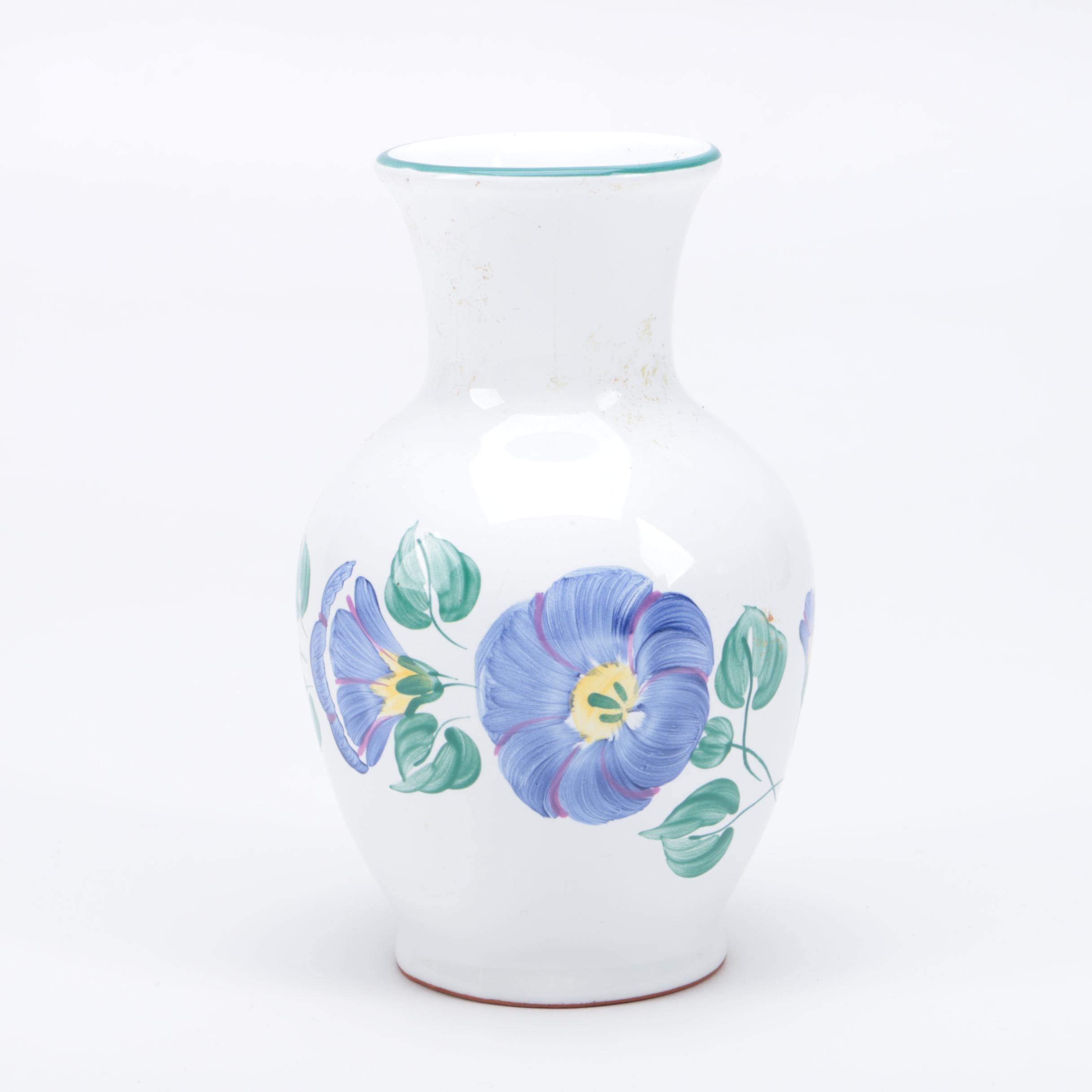 Herend Village Pottery Floral Vase