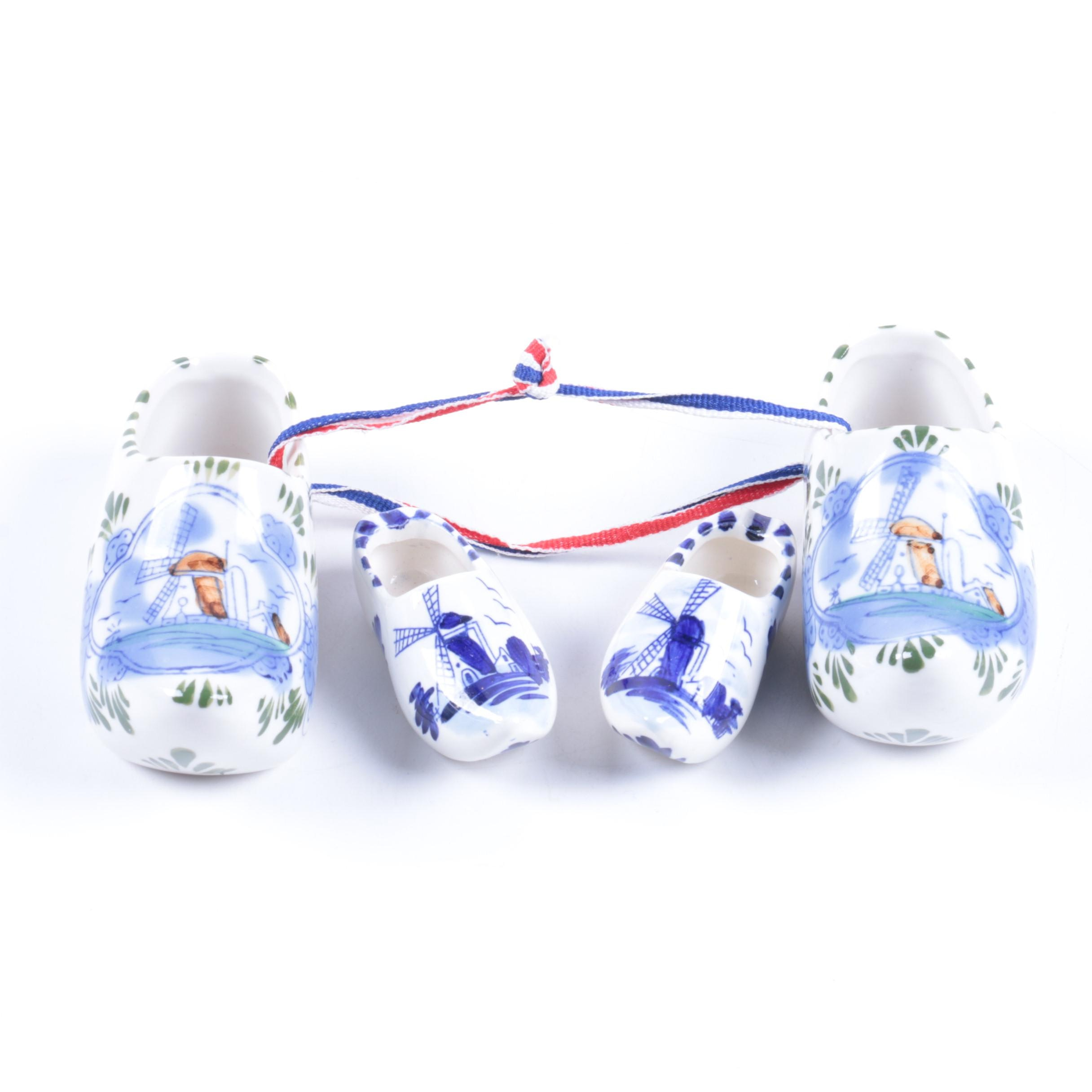 Dutch Ceramic Shoe Figurines