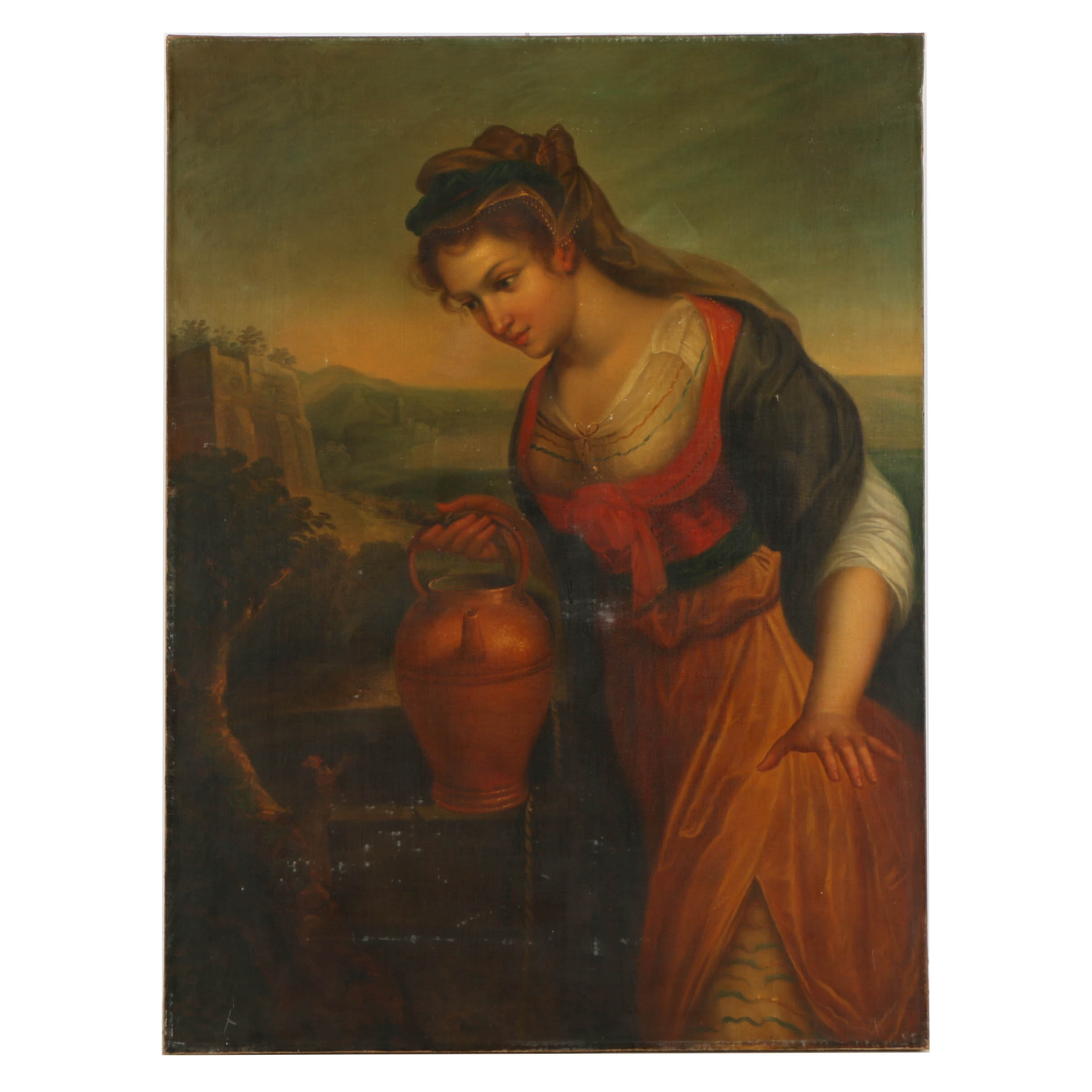 Oil Painting on Canvas of the Samaritan Woman at the Well