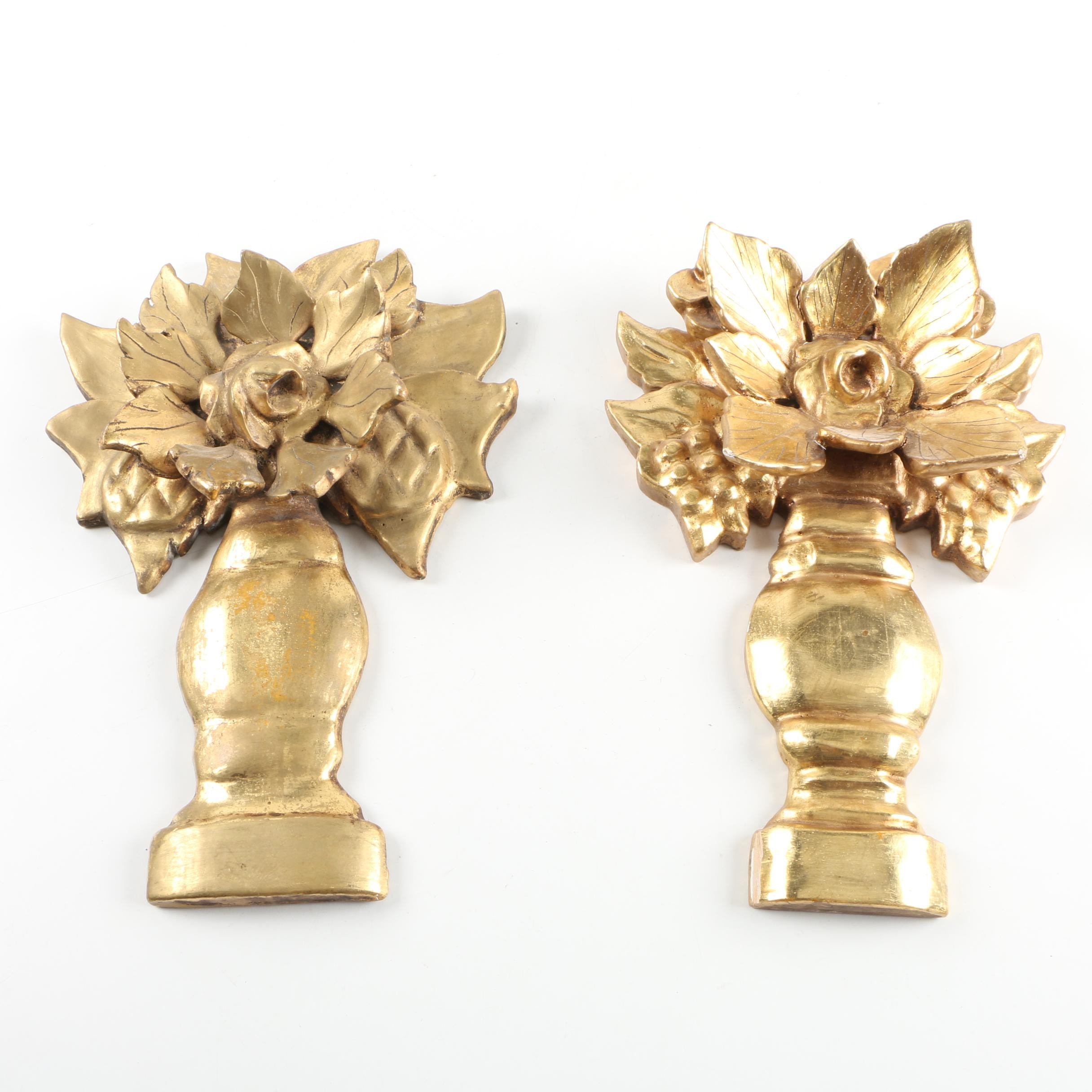 Gold Painted Plaster Wall Decor
