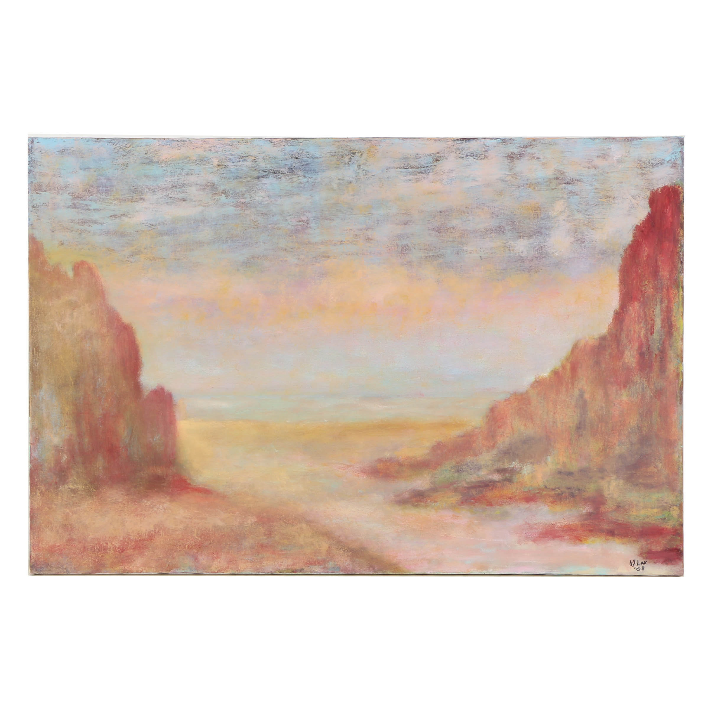 Wendy Lax Oil Painting on Canvas Abstract Landscape