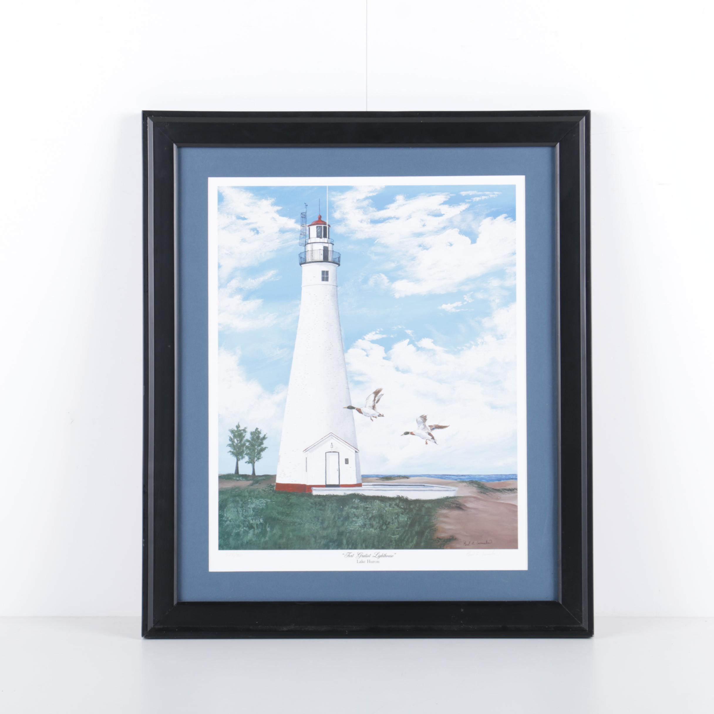 "Paul A. Essmaker Limited Edition Reproduction Print ""Fort Gratiot Lighthouse"""